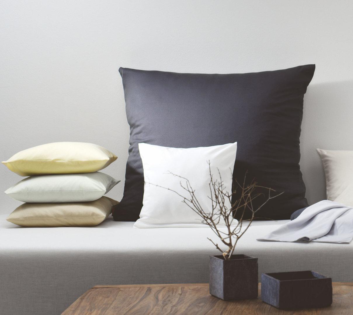 Fleuresse Interlock-Jersey-Kissenbezug uni colours anthrazit 9031