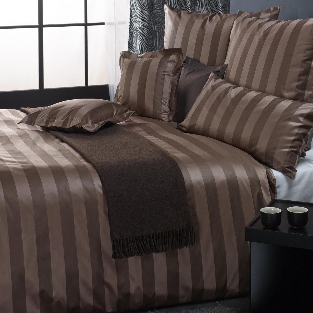 curt bauer como mako brokat streifen damast bettw sche. Black Bedroom Furniture Sets. Home Design Ideas