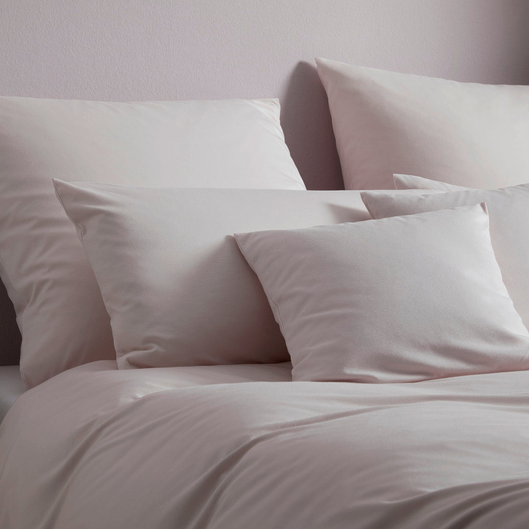 Elegante Jersey Bettwäsche Honeymoon Uni Solid Rose 01