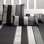 Joop! Ornament Stripes Mako Satin Bettwäsche -schwarz 09 135x200+80x80