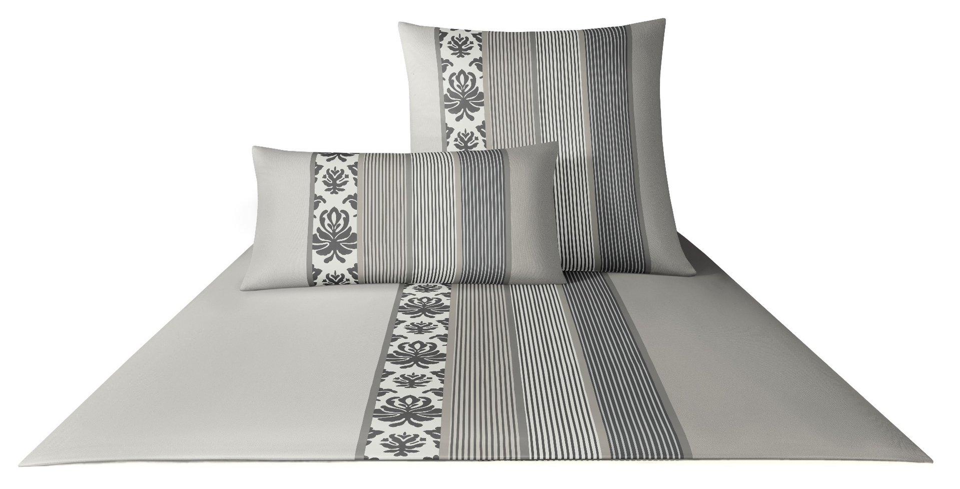 joop ornament stripes mako satin bettw sche graphit 77. Black Bedroom Furniture Sets. Home Design Ideas