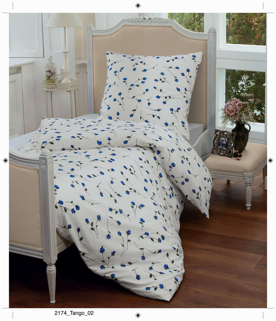 janine tango mako soft seersucker bettw sche 02 blau boudoir. Black Bedroom Furniture Sets. Home Design Ideas