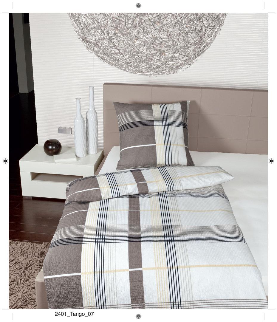 janine tango mako soft seersucker bettw sche 07 sand boudoir. Black Bedroom Furniture Sets. Home Design Ideas