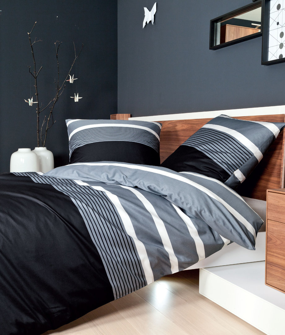 janine mako satin bettw sche j d silber schwarz 08 boudoir. Black Bedroom Furniture Sets. Home Design Ideas