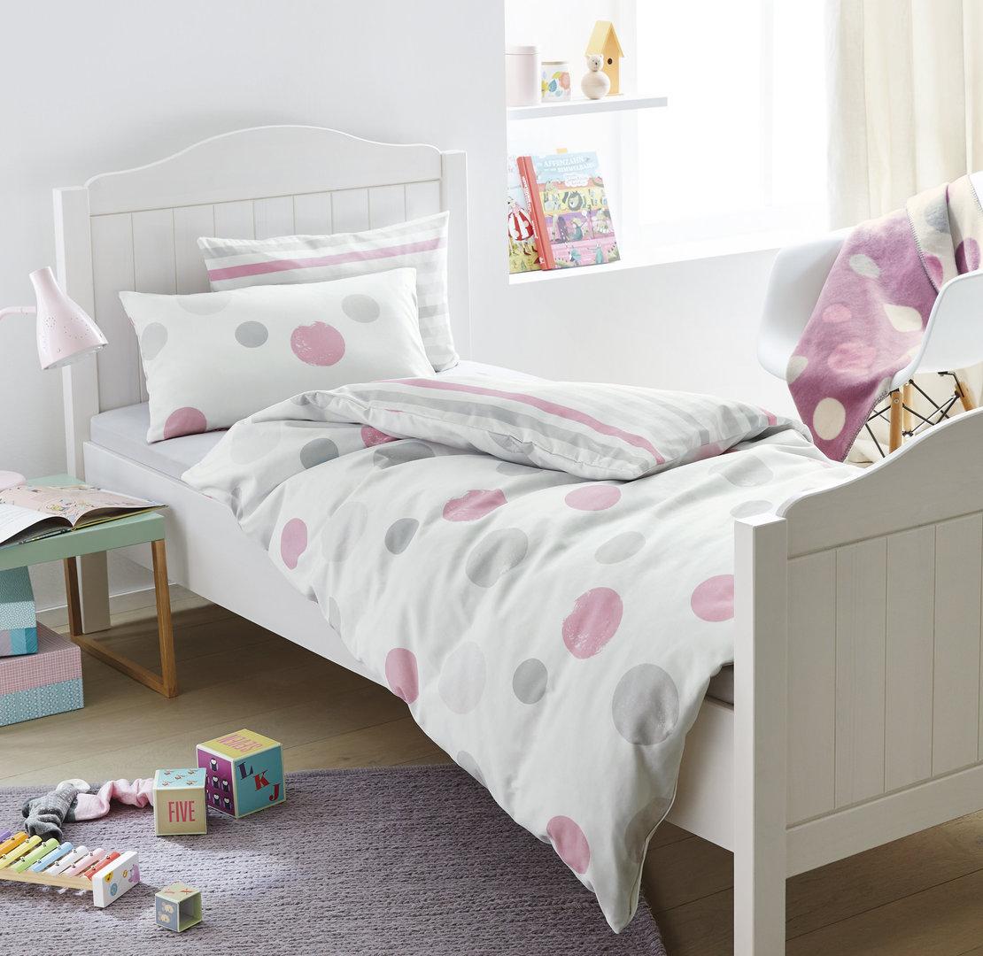 s oliver feinflanell bettw sche 500 rosa grau boudoir. Black Bedroom Furniture Sets. Home Design Ideas