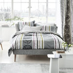 Designers Guild Satin Bettwäsche Astrakhan Graphit